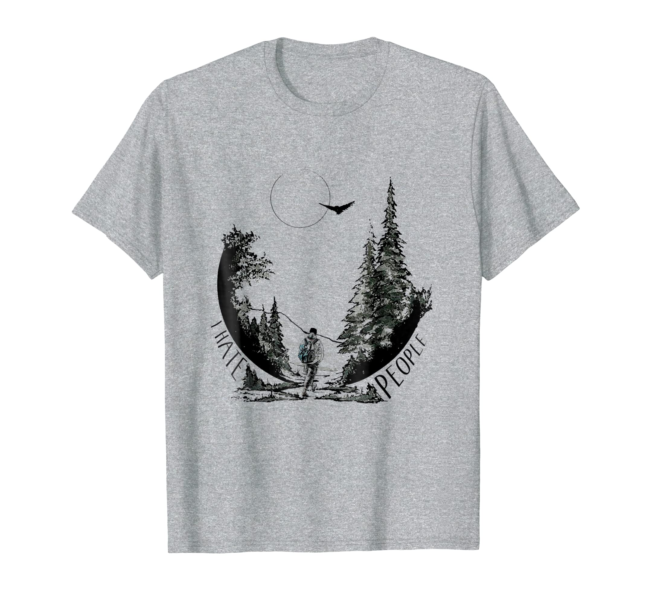 5d1102e66 Amazon.com: I hate people camping and hiking t-shirt: Clothing