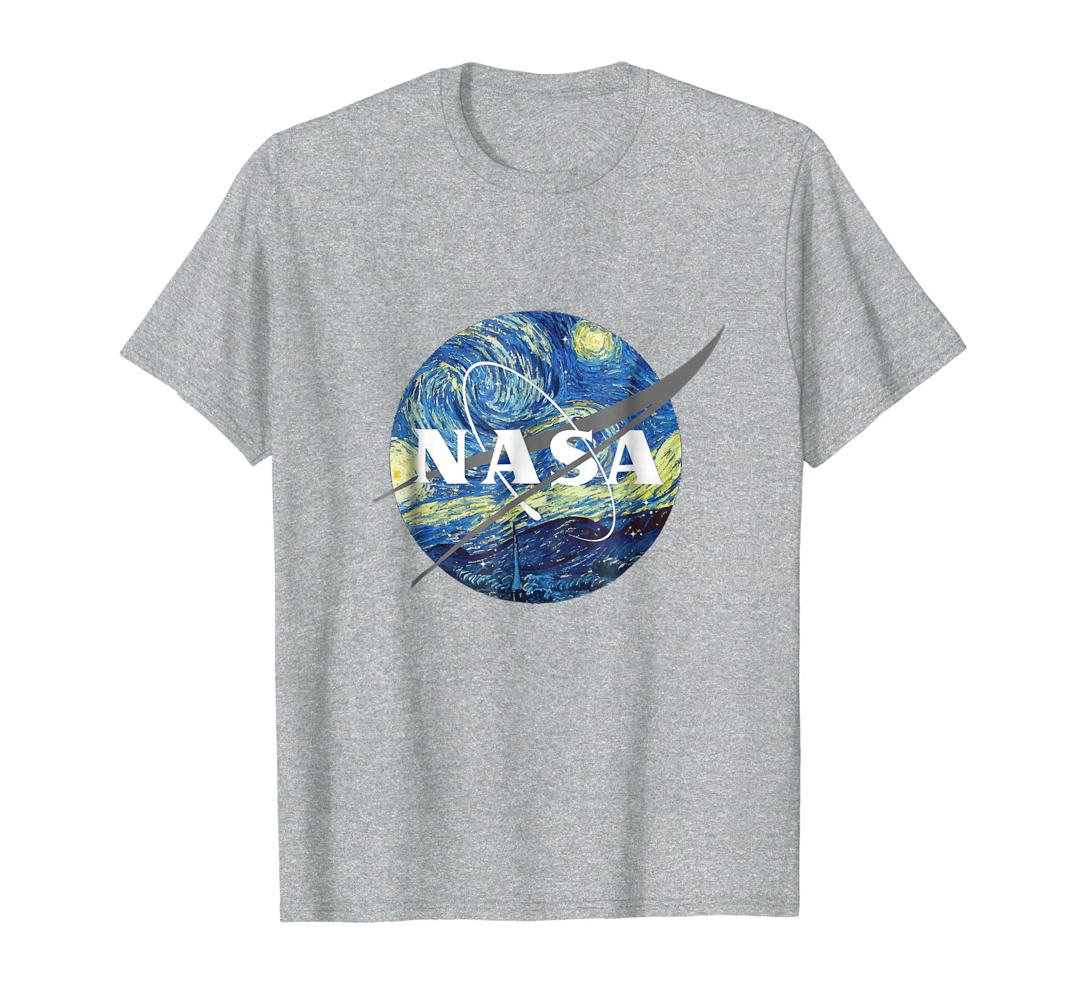 Amazon.com: Nasa Starry Night T-Shirt - Nasa Van Gogh Style Shirt: Clothing