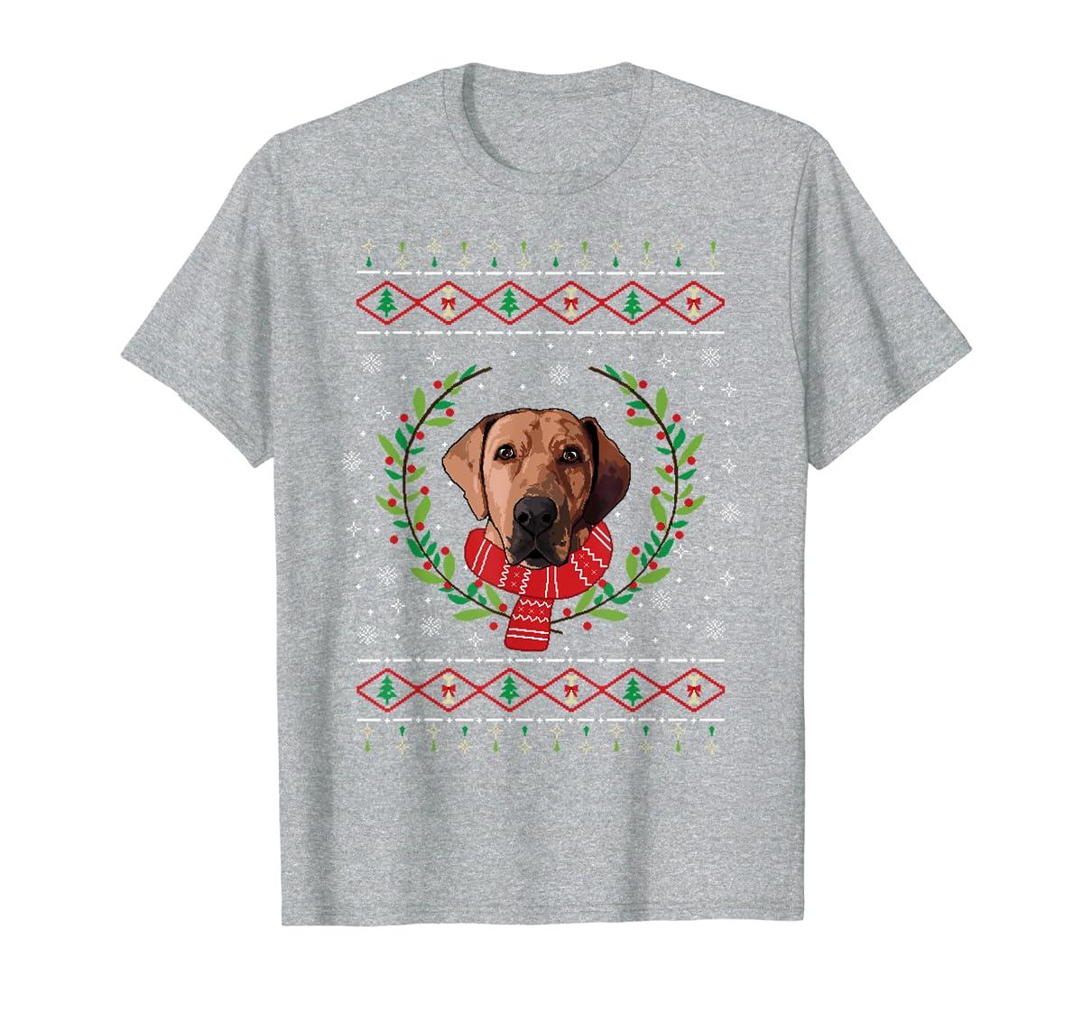 Broholmer Ugly Christmas Jumper T-Shirt Gift T-Shirt-Men's T-Shirt-Sport Grey