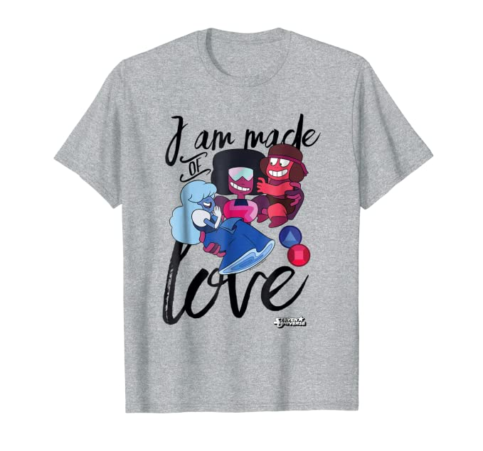 1c367afe0 Amazon.com: CN Steven Universe I Am Made Of Love Graphic T-Shirt: Clothing