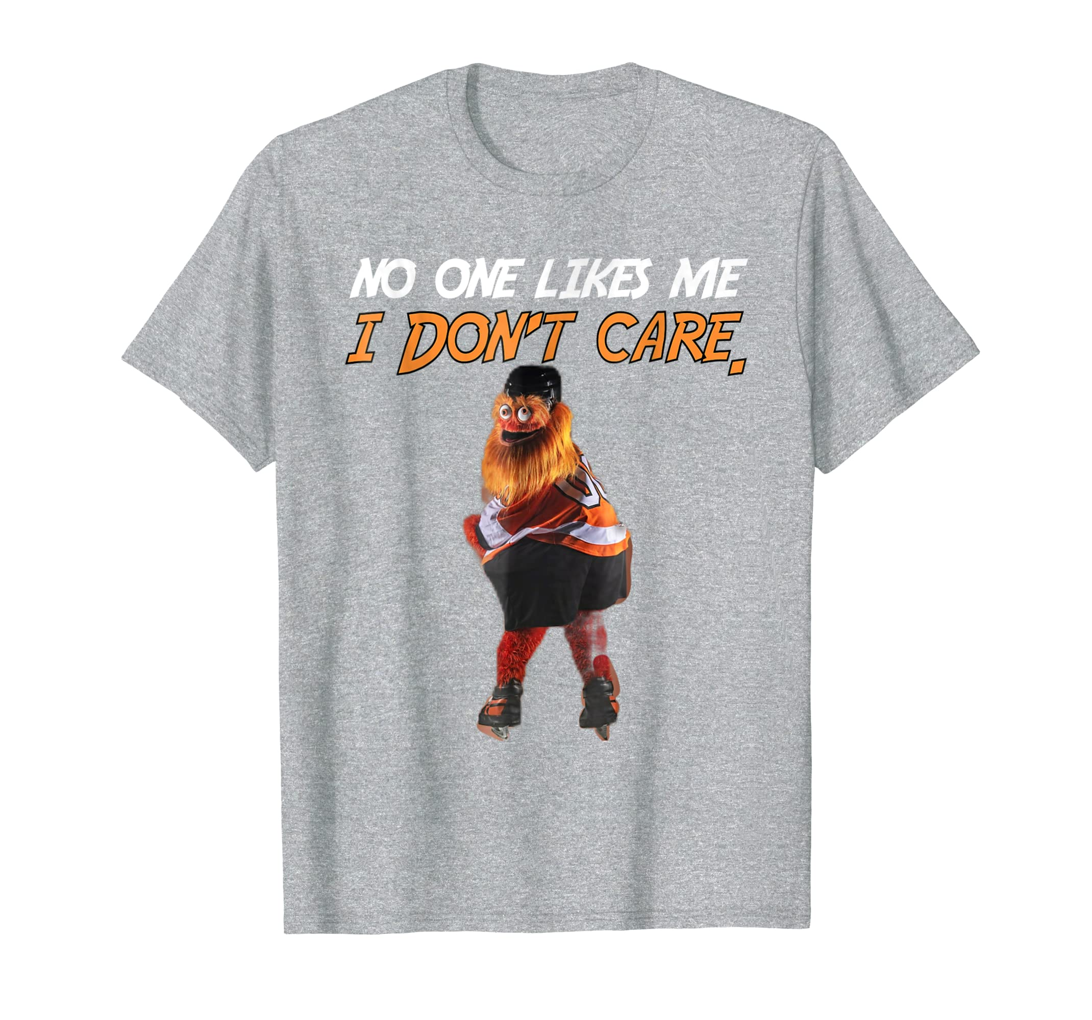 90ad052d0bc ... No One Likes Me I Don t Care Gritty Philly Mascot T Shirt-Colonhue ...