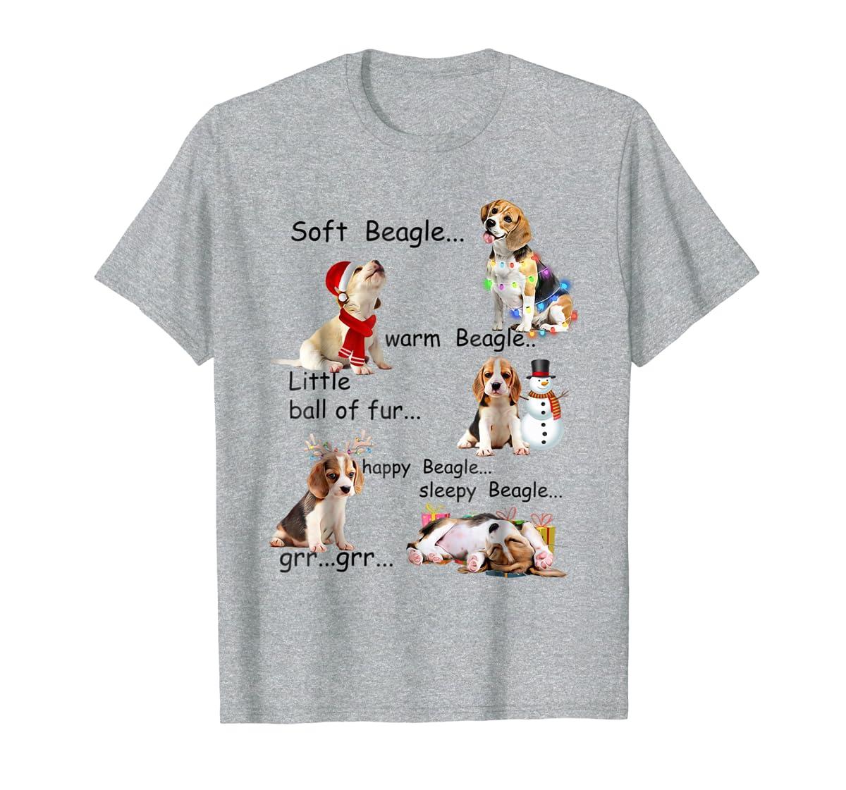 Beagle 5 Shades - Nice Dog Christmas Tshirt-Men's T-Shirt-Sport Grey