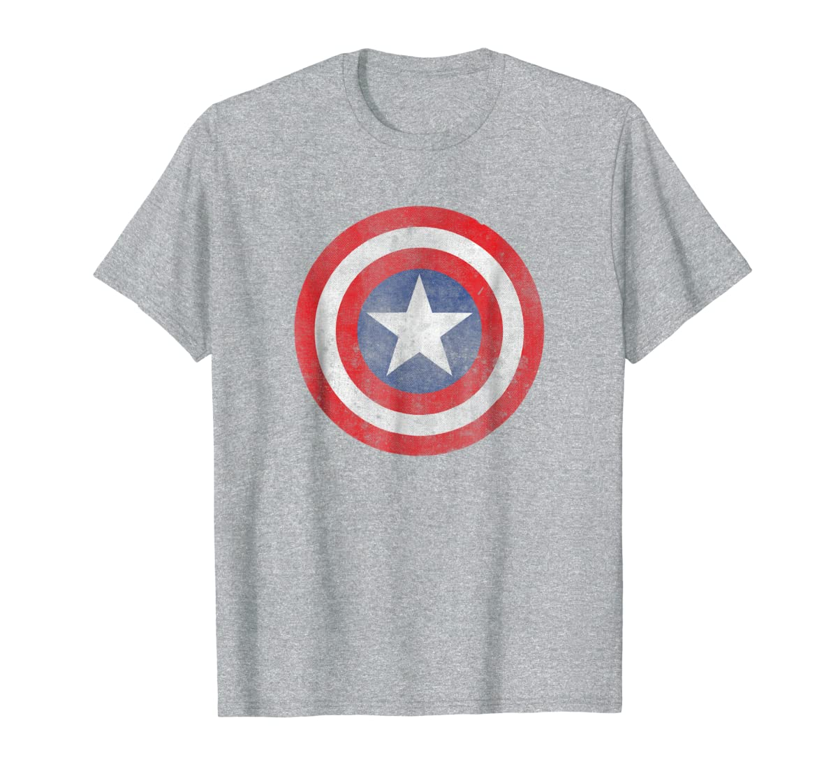 Marvel Captain America Classic Shield Graphic T-Shirt-Men's T-Shirt-Sport Grey