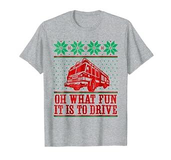 Firefighter Christmas Shirt.Amazon Com Firefighter Christmas T Shirt Ugly Sweater