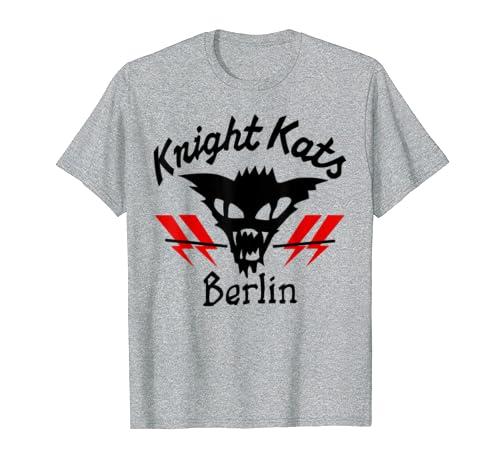 Amazon com: Knight Kats Berlin Motor Cat Logo T-Shirt Tees