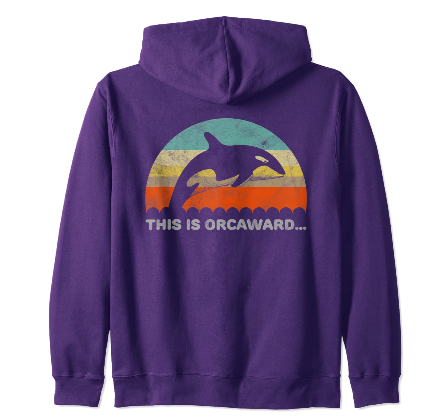 Funny Orca This Is Orcaward Awkward Pun Zip Hoodie