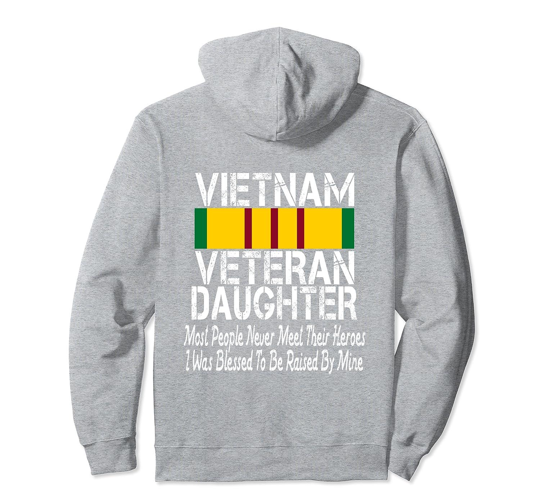 (Printed on Back) Vietnam Veteran Daughter Raised By My Hero Pullover Hoodie