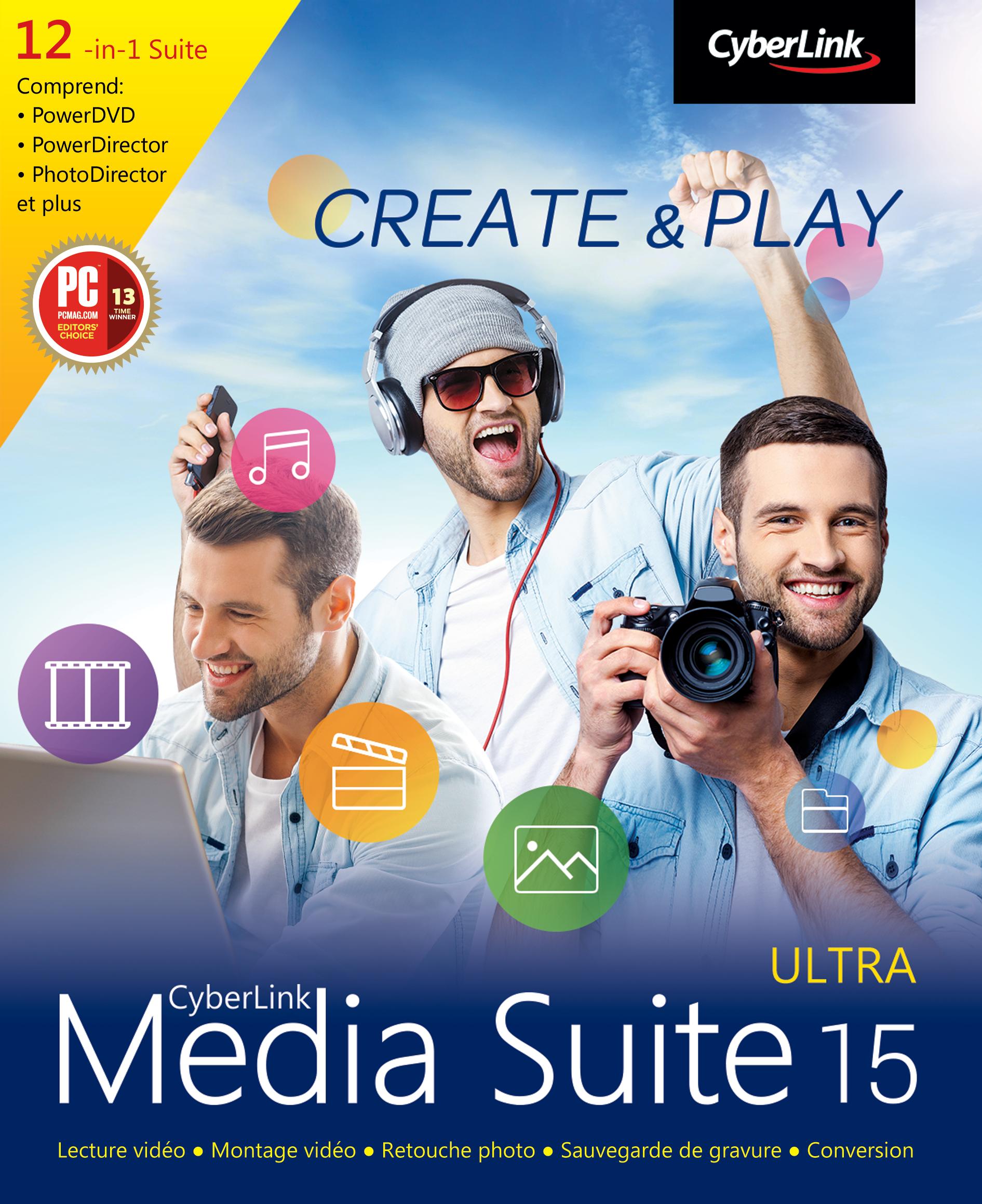 CyberLinl Media Suite 15 Ultra [Téléchargement]
