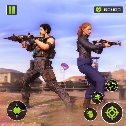 Grafica 3D HD intuitiva e animazioni di tiro TPS da giochi di tiro gratuiti offline. Azione emozionante e missione ricca di giochi d'azione gratuiti sparatutto in prima persona epici. Armi di alta qualità M16, M1911, AK 47 o pistole corte lungo i fuc...