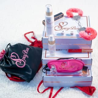 SpicyBox Date Night Subscription Box - Monthly Romantic Date Night Activity Box for Couples With Lingerie, Perfume, Props, Passion Tips, Ideas & More