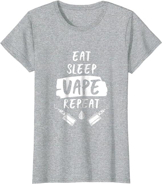Smoking T Shirt Eat Sleep Vape Repeat Mens Funny Gift Dad