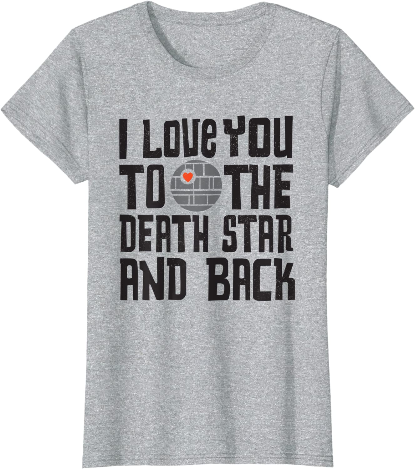 Star Wars Valentines Day I Love You to the Death Star T-Shirt