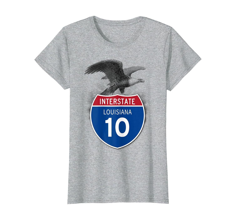 Louisiana LA I-10 Highway Interstate Shield T-Shirt Tee