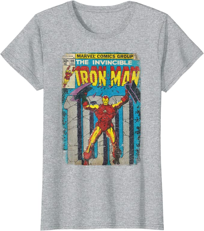 gift for him Retro Ironman T-shirt 100/%cotton unisex Tee