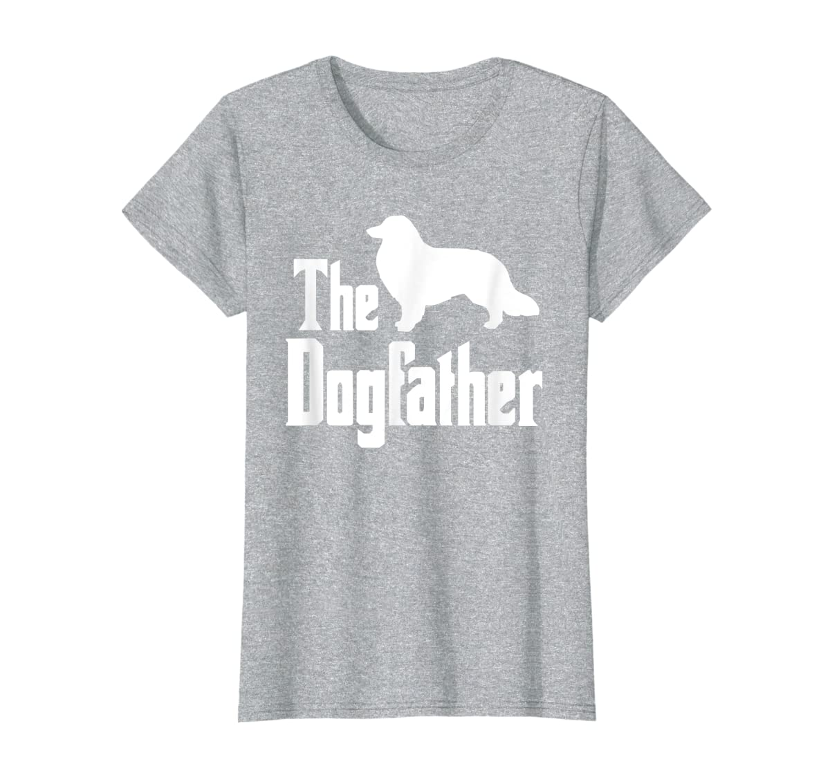 The Dogfather - funny Rough Collie T-Shirt, funny dog gift-Women's T-Shirt-Sport Grey