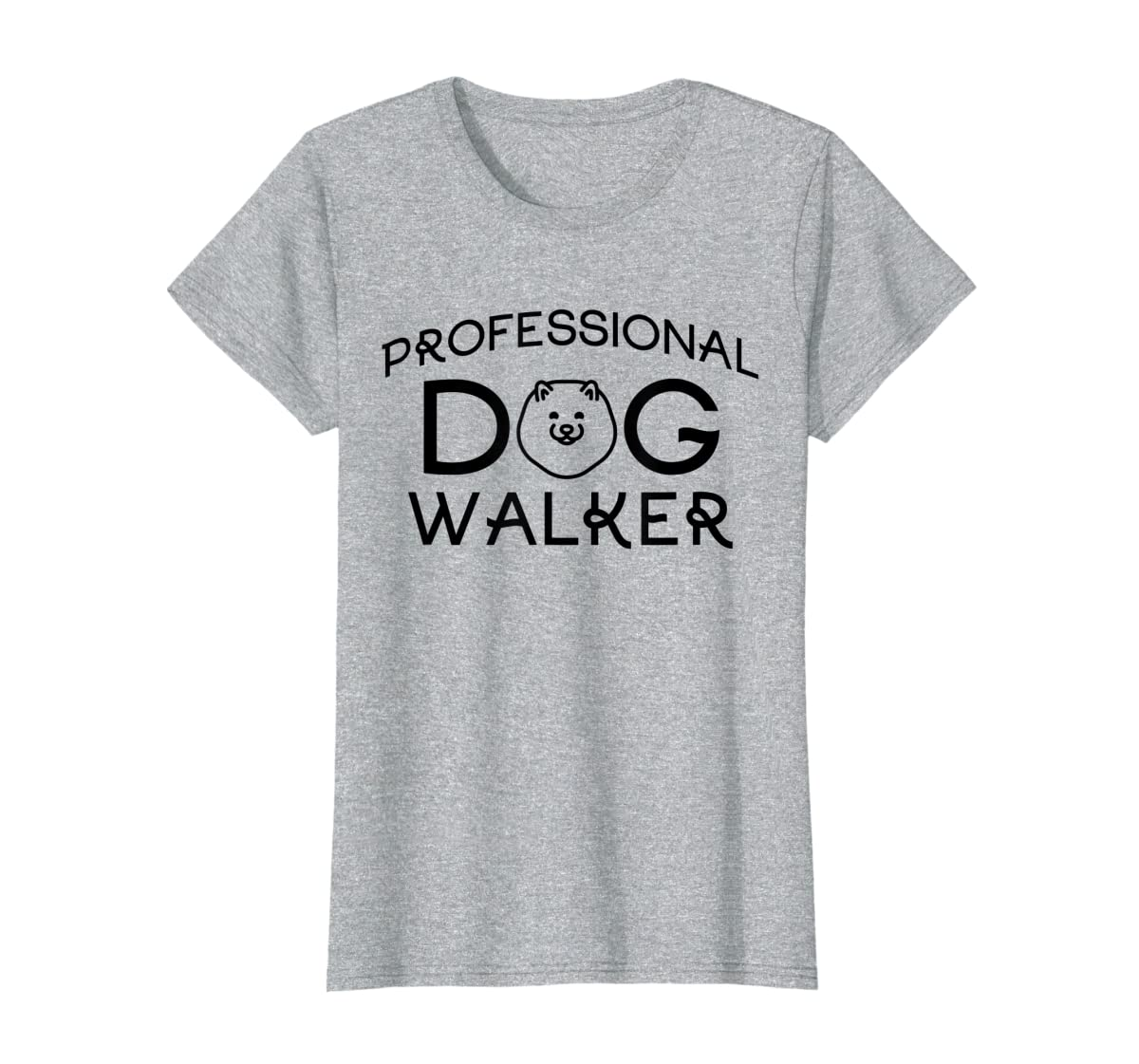 Professional Dog Walker Cute Puppy Tshirt Pet Lover T-Shirt-Women's T-Shirt-Sport Grey