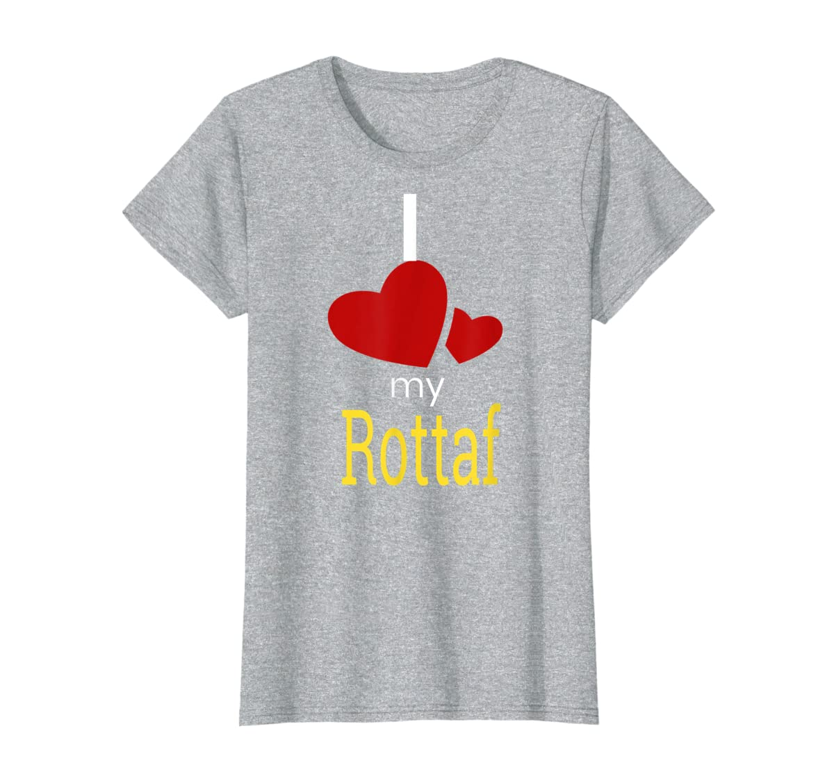 Rottaf Dog Shirt Love Rottweiler + Afghan Hound =  T-Shirt-Women's T-Shirt-Sport Grey