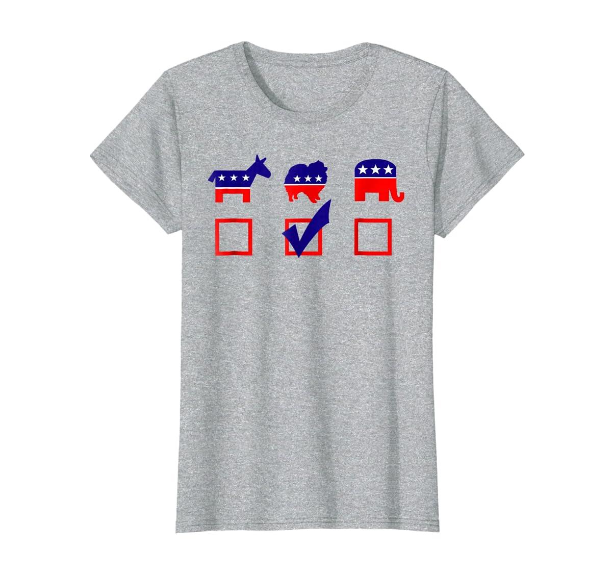 Vote Pomeranian For President T-shirt Cool Dog Lover Shirt-Women's T-Shirt-Sport Grey