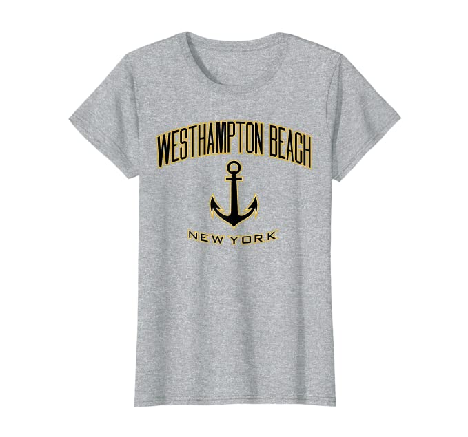 6f2c41aa10 Amazon.com: Westhampton Beach, New York T-Shirt (Black/Gold): Clothing