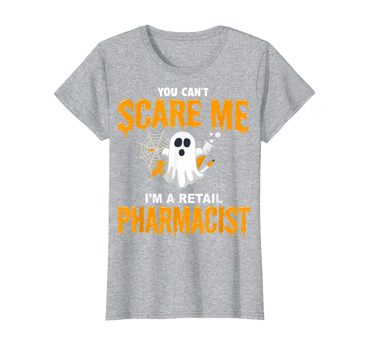 Halloween Costume Shirt I'm A Retail Pharmacist  T-Shirt-Women's T-Shirt-Sport Grey