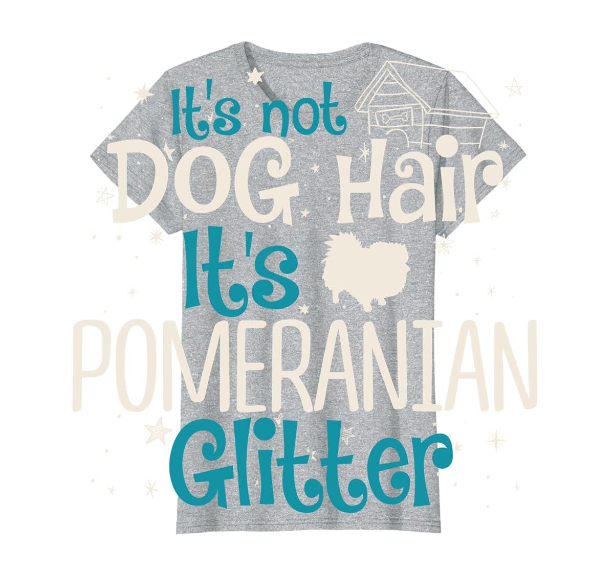 It's Not Dog Hair It's Pomeranian Glitter T-Shirt-Women's T-Shirt-Sport Grey
