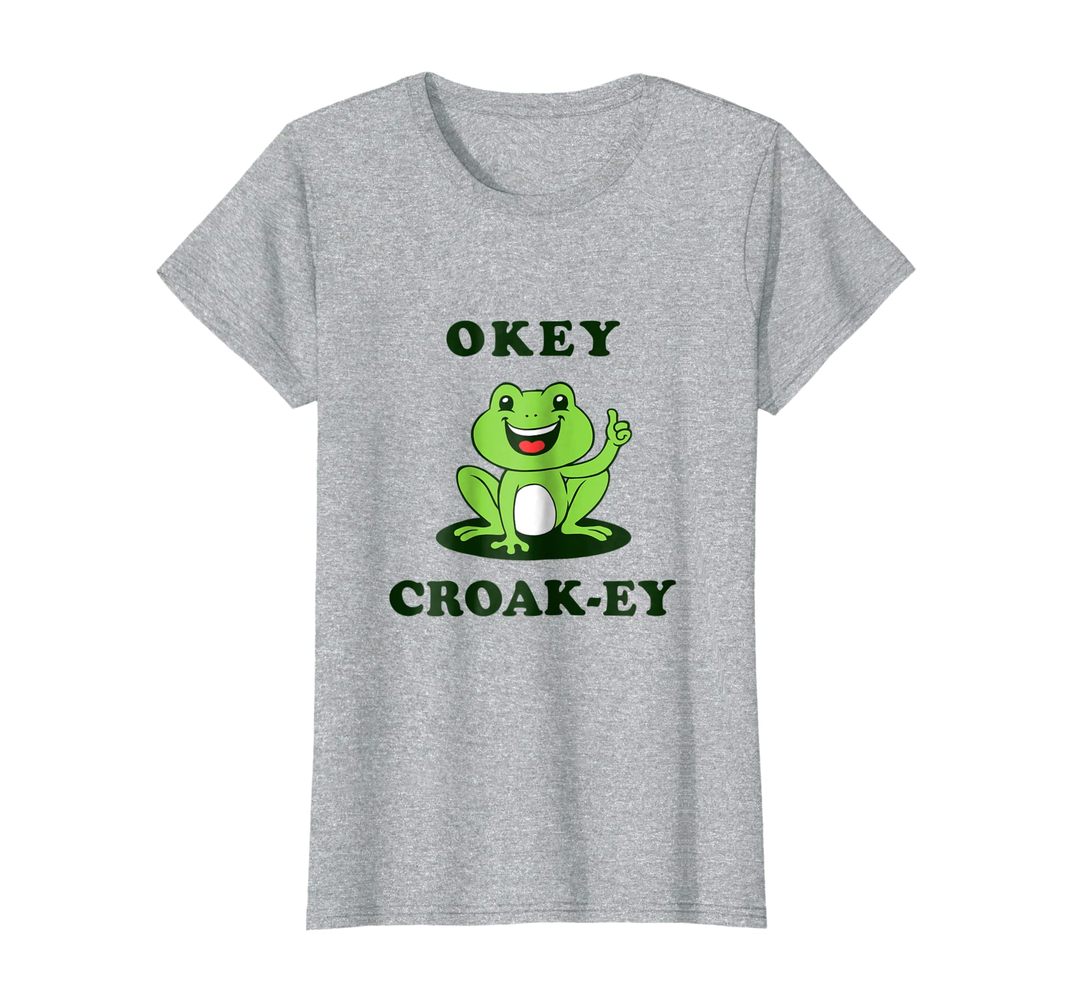 65da2921 Amazon.com: Okey Croak-ey T-Shirt - Funny Frog Toad Pun Joke: Clothing