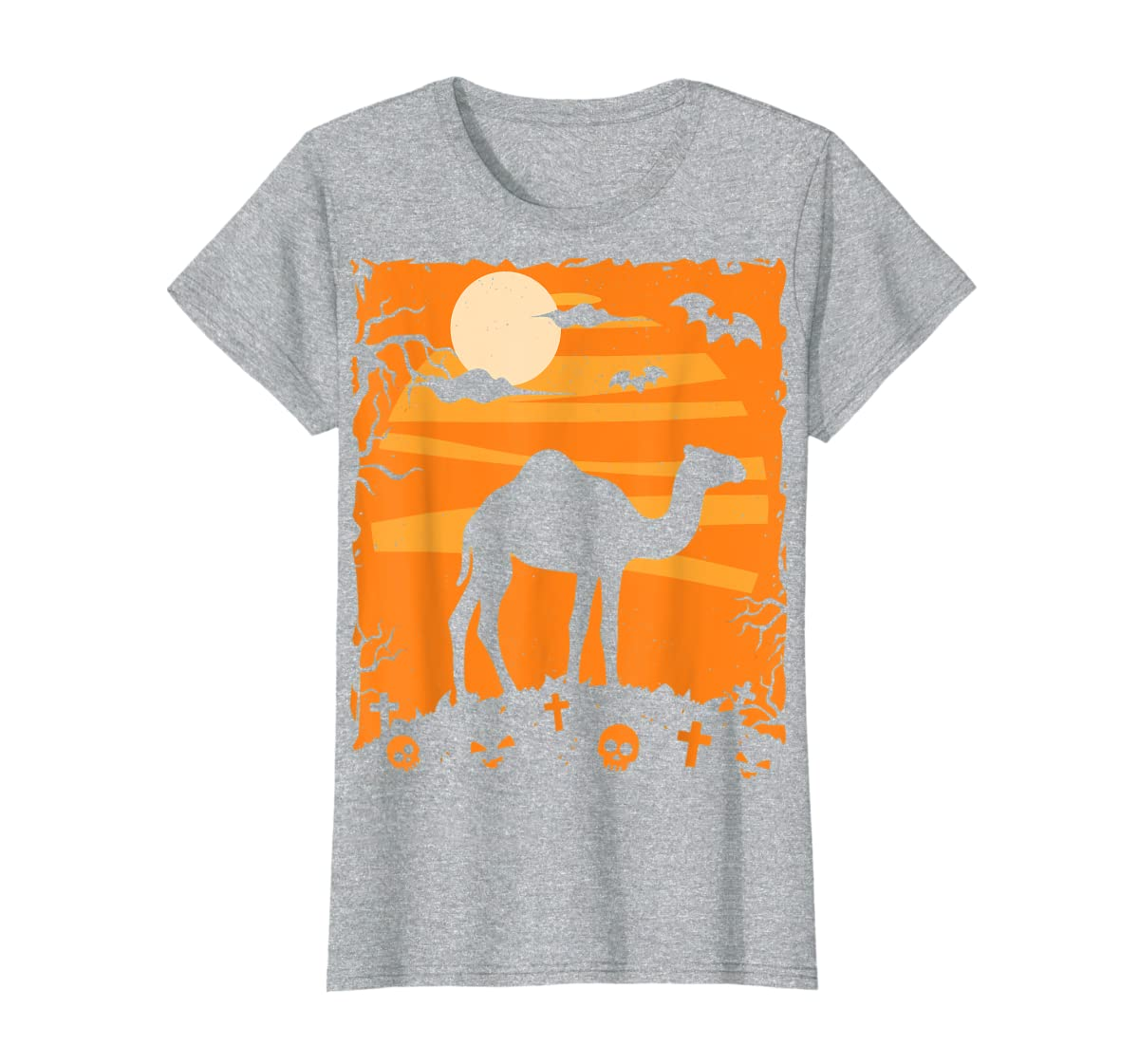 Camel Halloween Costume Animal Funny Pumpkin Outfit Gift T-Shirt-Women's T-Shirt-Sport Grey