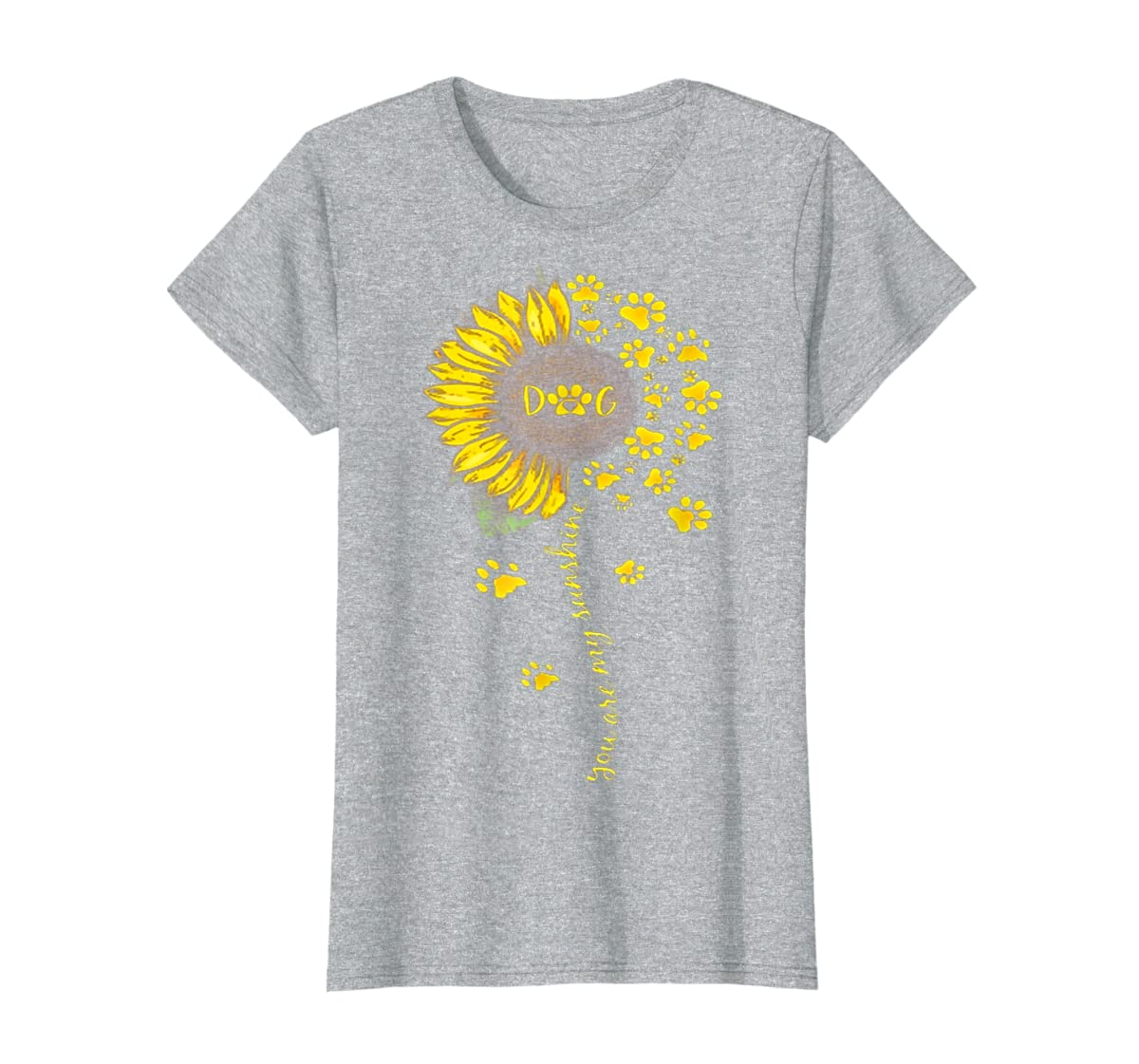 You Are My Sunshine Dog Tshirt-Women's T-Shirt-Sport Grey