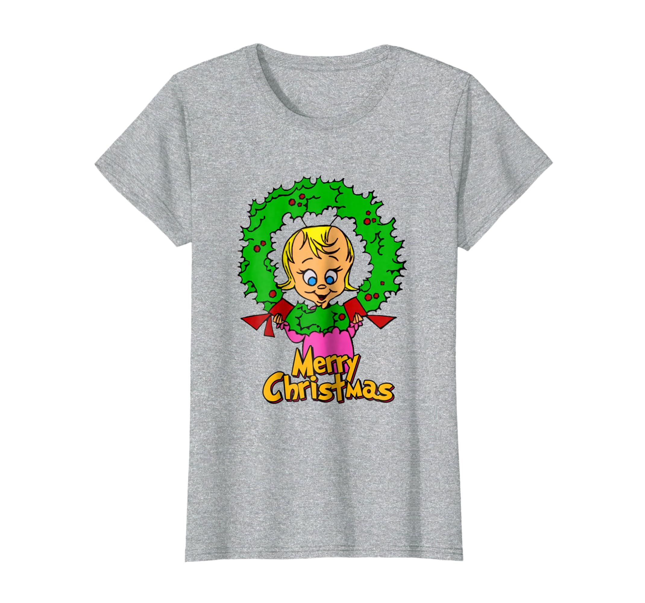 T Shirt Weihnachten.Amazon Com Frohe Weihnachten T Shirt Cindy Lou Clothing