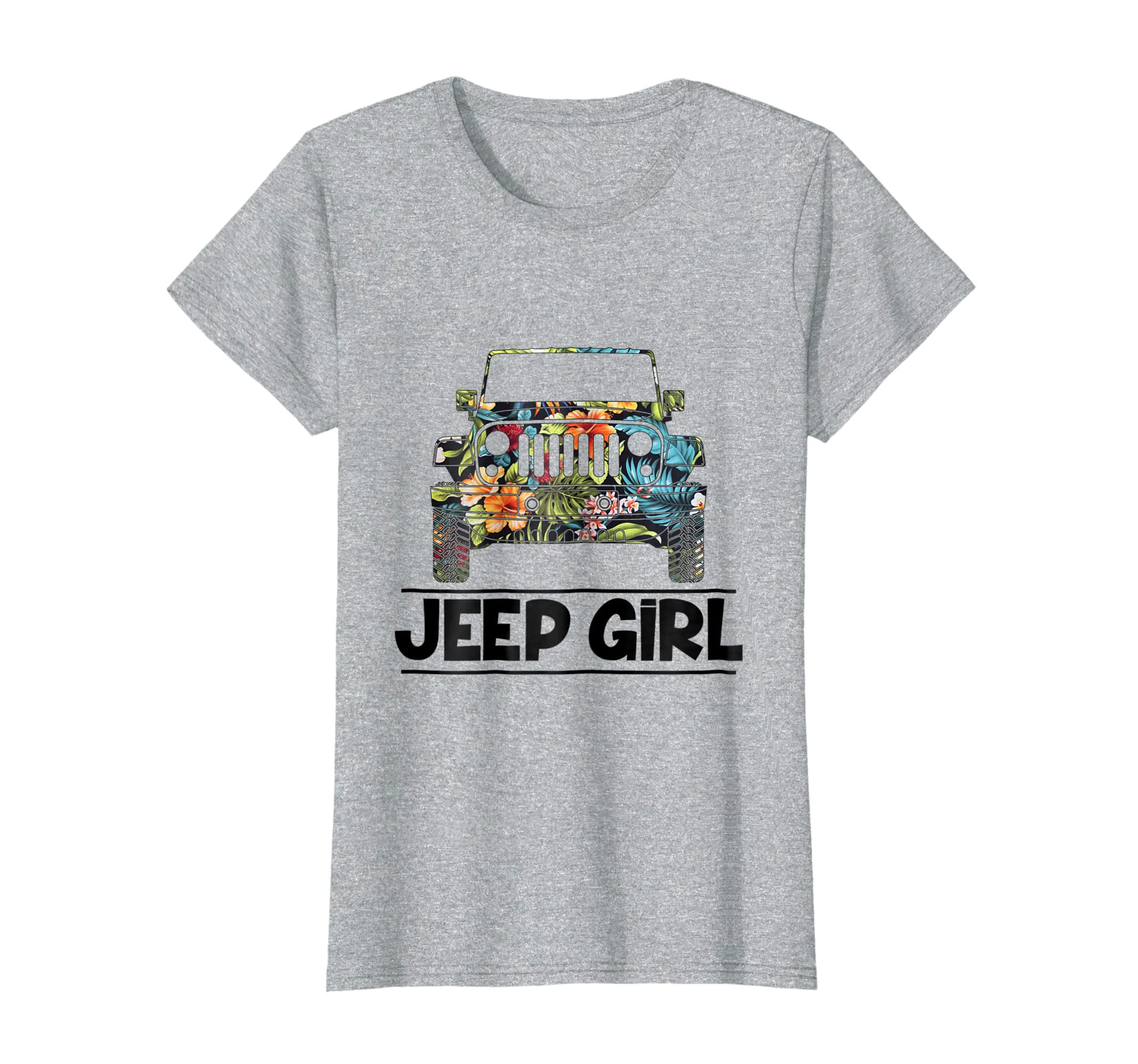 Vintage Flower Jeep Girl Shirt Summer Funny Birthday Gift Fa