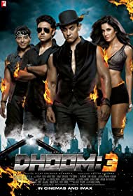 Abhishek Bachchan, Uday Chopra, Aamir Khan, and Katrina Kaif in Dhoom:3 (2013)