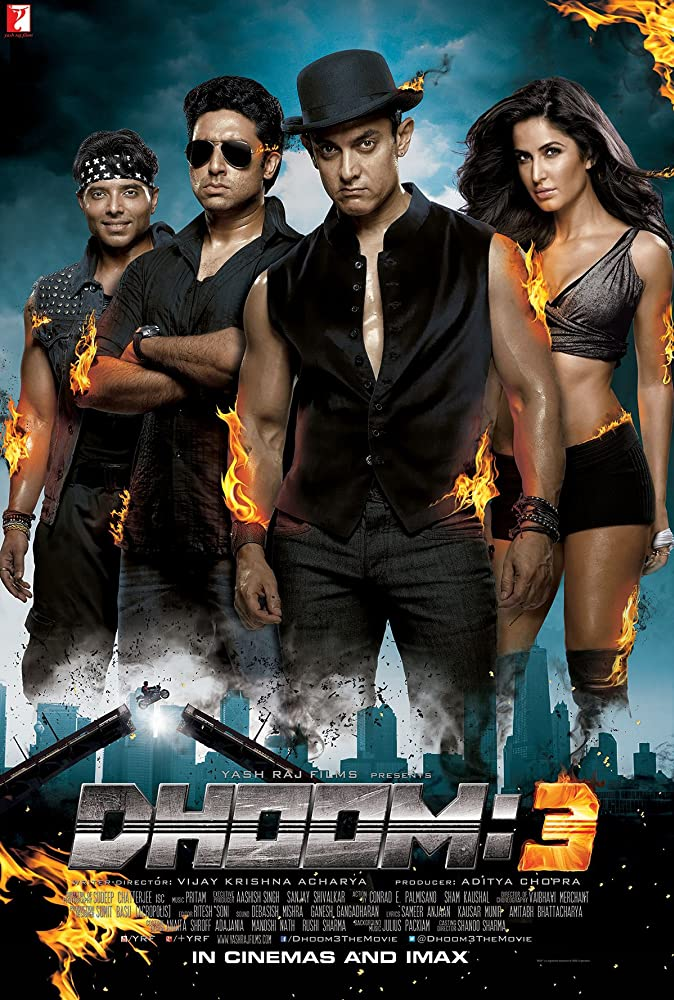 Dhoom 3 (2013) Hindi Movie 720p BluRay 1.1GB Download