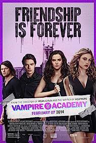 Danila Kozlovskiy, Zoey Deutch, Dominic Sherwood, and Lucy Fry in Vampire Academy (2014)