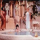 Elizabeth Taylor, Francesca Annis, and Isabel Cooley in Cleopatra (1963)