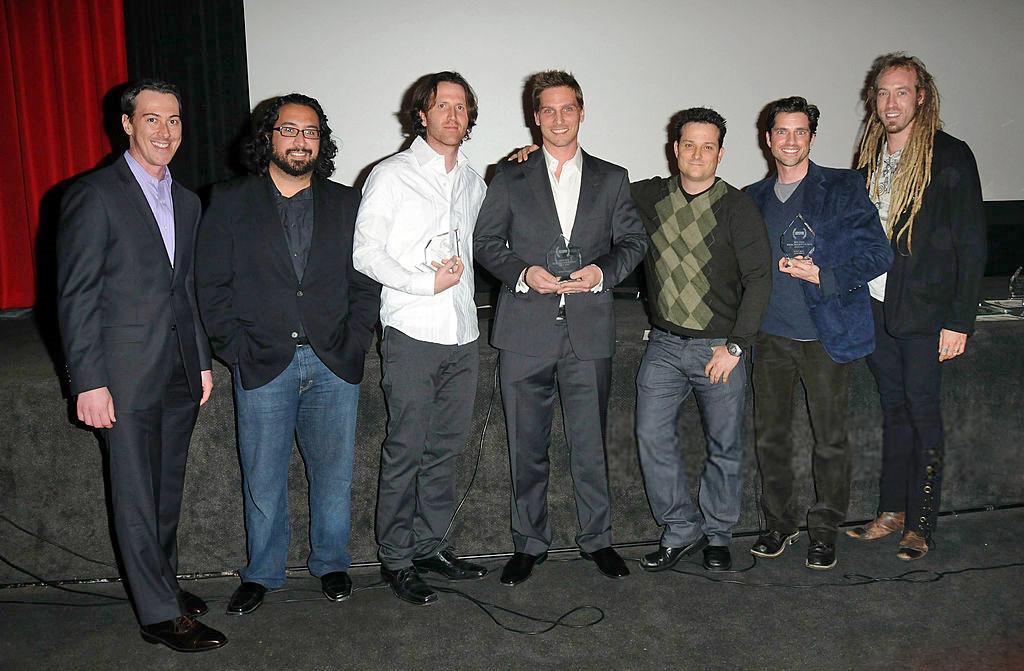 Scott Bailey, Josh Roman, Doug Maguire, Emilio Rossal, Azmyth Kaminski, Anthony Hansen, and John Scalco at an event for Bank Roll (2012)