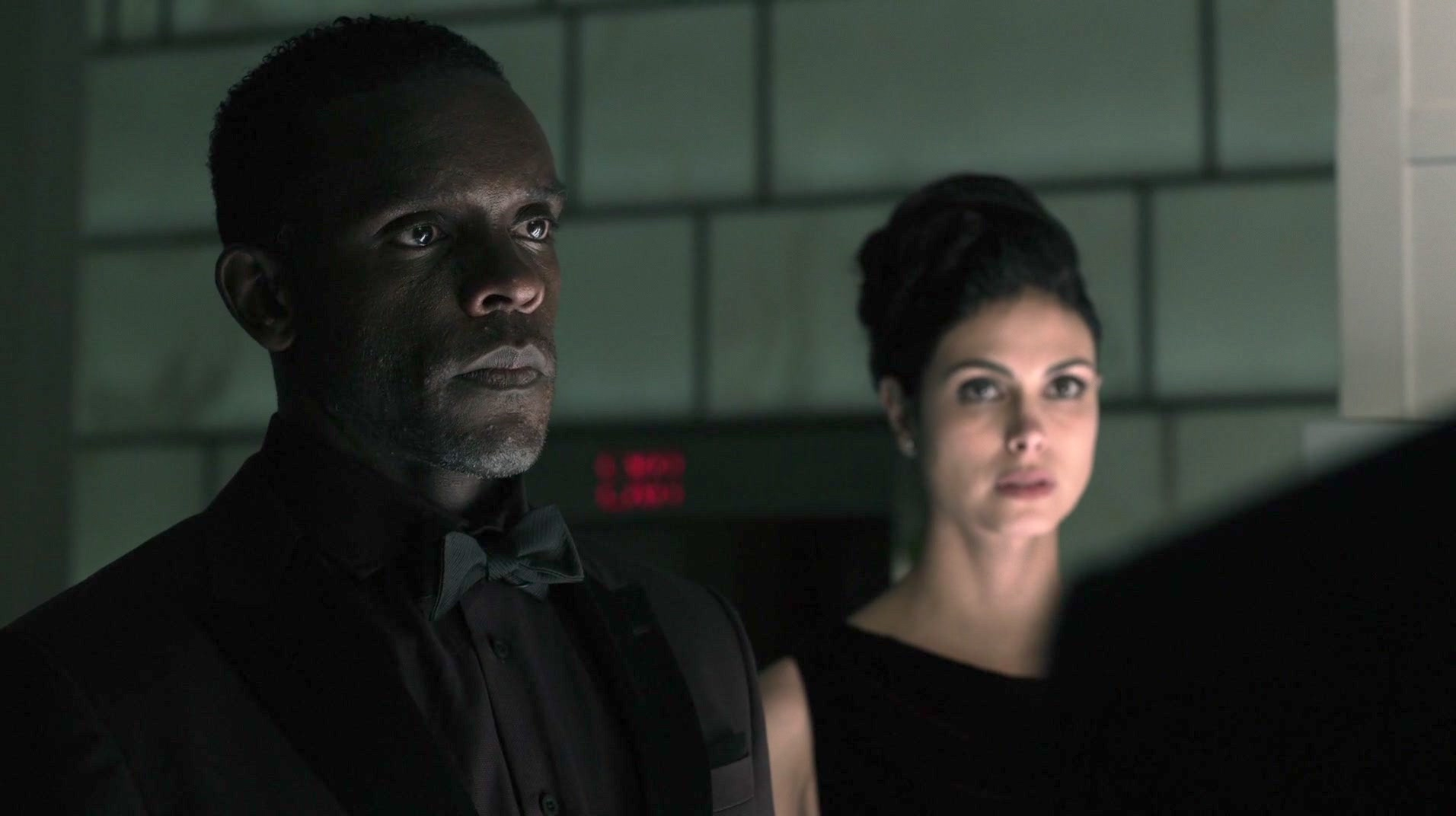 Morena Baccarin and Chris Chalk in Gotham (2014)