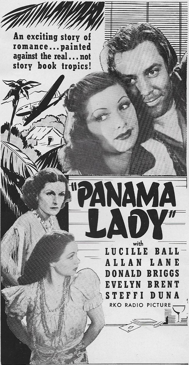 Lucille Ball, Evelyn Brent, Steffi Duna, and Allan Lane in Panama Lady (1939)