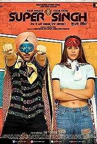 Ekta Kapoor, Pawan Gill, Diljit Dosanjh, Anurag Singh, and Sonam Bajwa in Super Singh (2017)