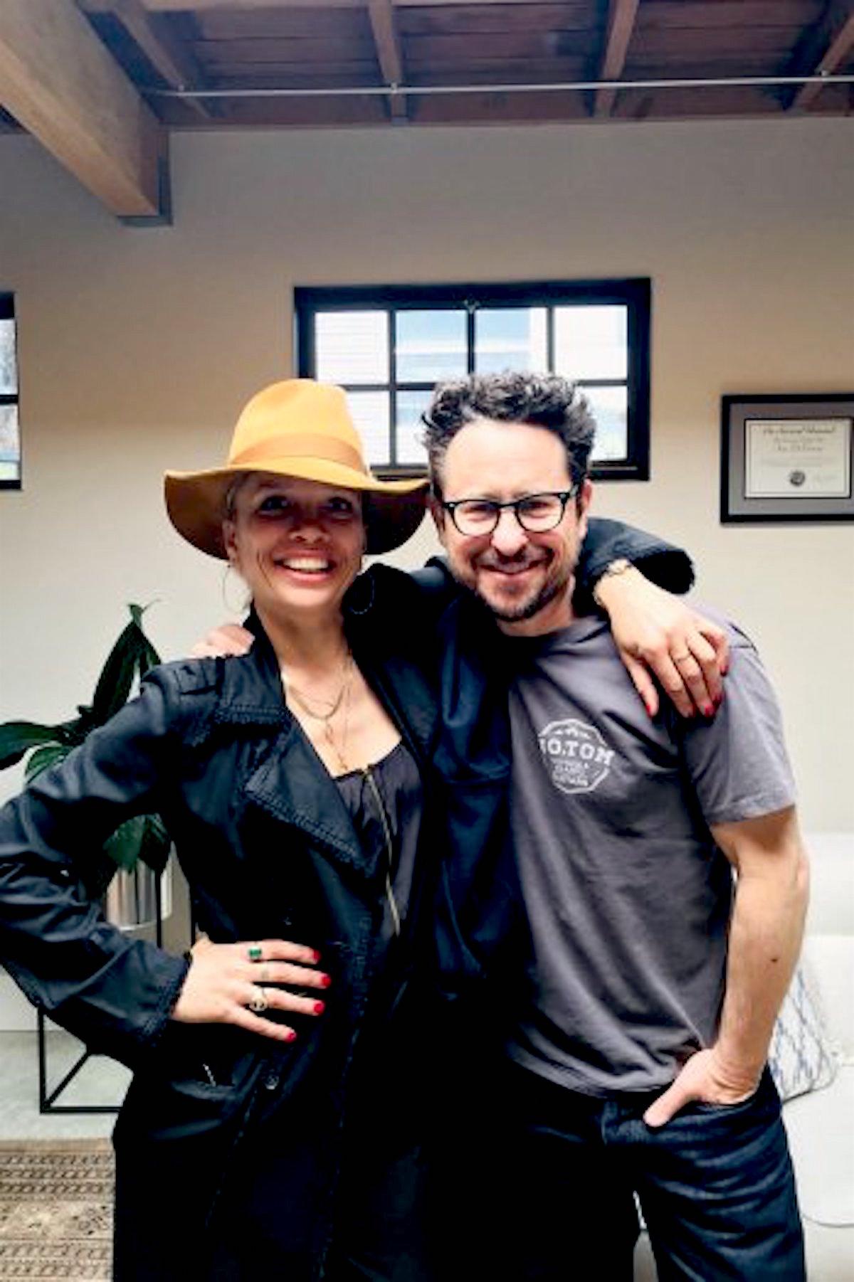 Victoria Mahoney with JJ Abrams