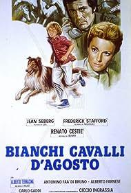Jean Seberg and Frederick Stafford in Bianchi cavalli d'Agosto (1975)