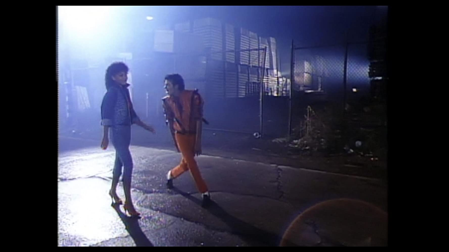 Michael Jackson and Ola Ray in Michael Jackson: Thriller (1983)