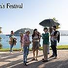 Woody Allen, Wallace Shawn, and Elena Anaya in Rifkin's Festival (2020)