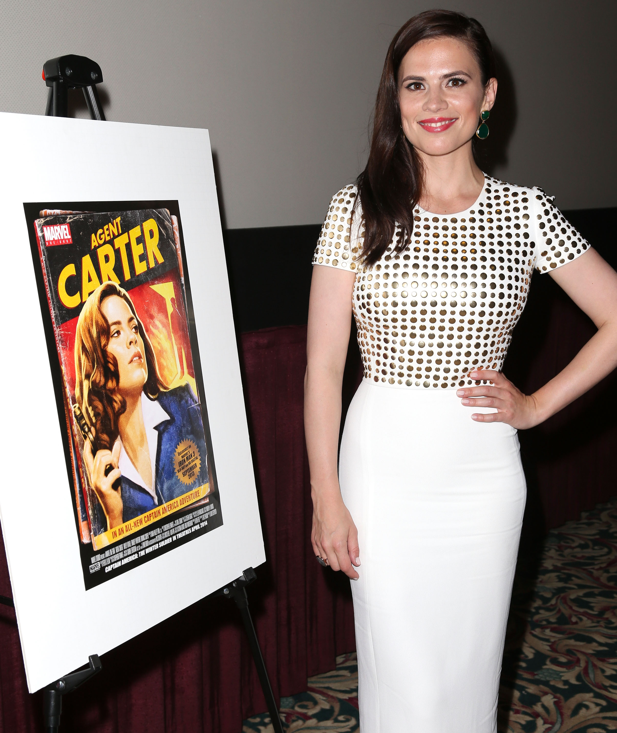 Hayley Atwell at an event for Marvel One-Shot: Agent Carter (2013)