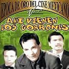 Antonio Espino, Eulalio González, and José René Ruiz in Ahí vienen los gorrones (1953)