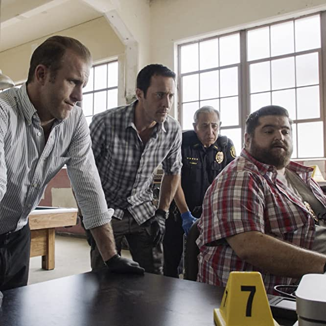 Scott Caan, Jorge Garcia, Dennis Chun, and Alex O'Loughlin in Hawaii Five-0: Ho'okahi no la o ka malihini (2019)