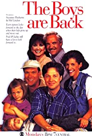 Justin Cooper, Kevin Crowley, Hal Linden, Bess Meyer, Kelsey Mulrooney, George Newbern, and Suzanne Pleshette in The Boys Are Back (1994)