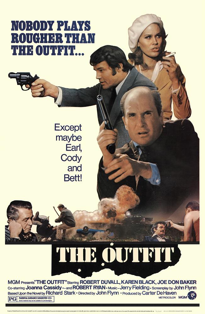 Robert Duvall, Joe Don Baker, Karen Black, and Robert Ryan in The Outfit (1973)