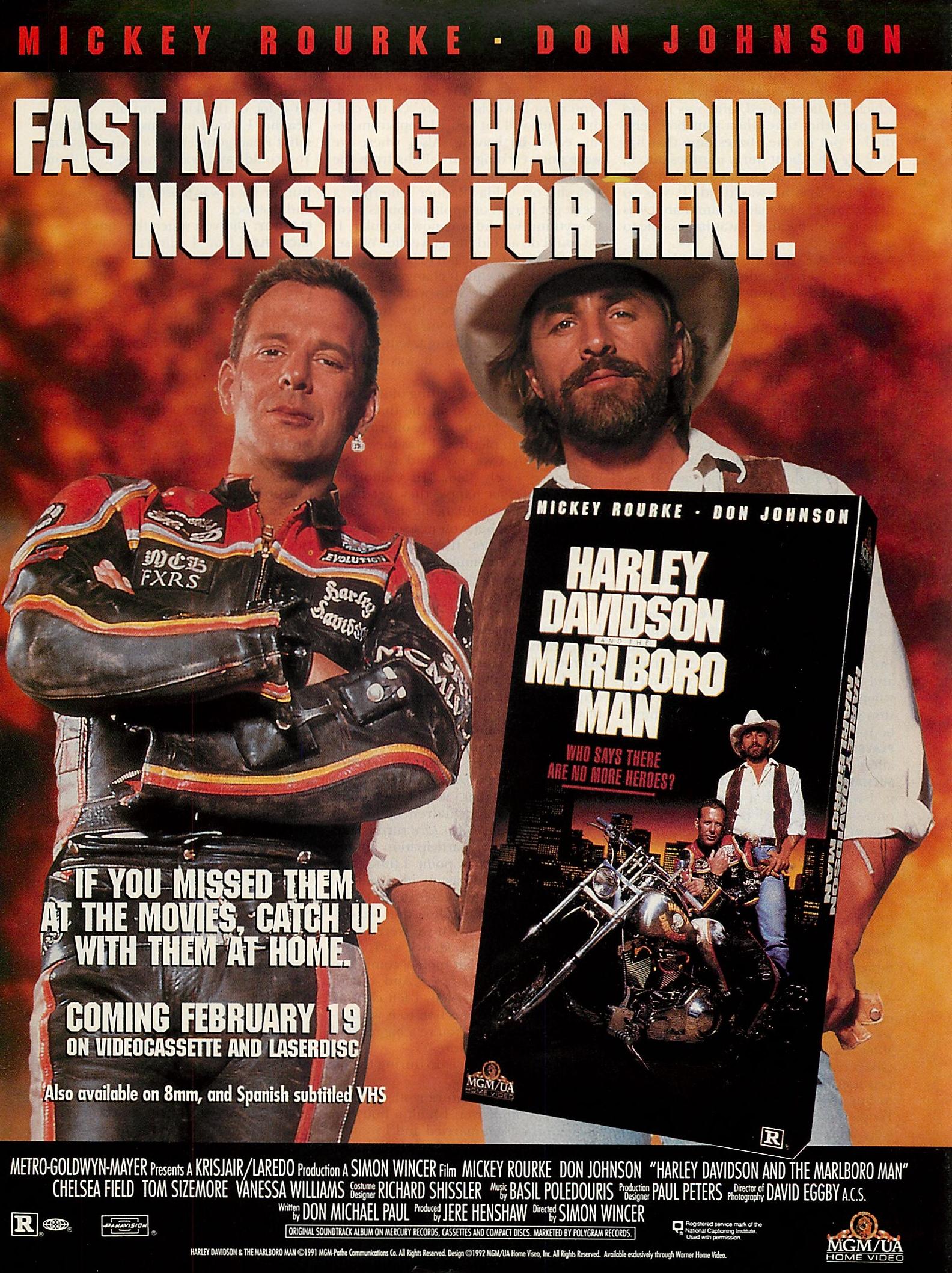 Harley Davidson And The Marlboro Man 1991 Photo Gallery Imdb