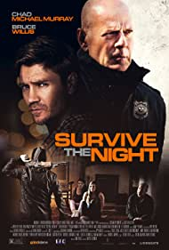 Bruce Willis, Chad Michael Murray, Lydia Hull, and Riley Wolfe Rach in Survive the Night (2020)