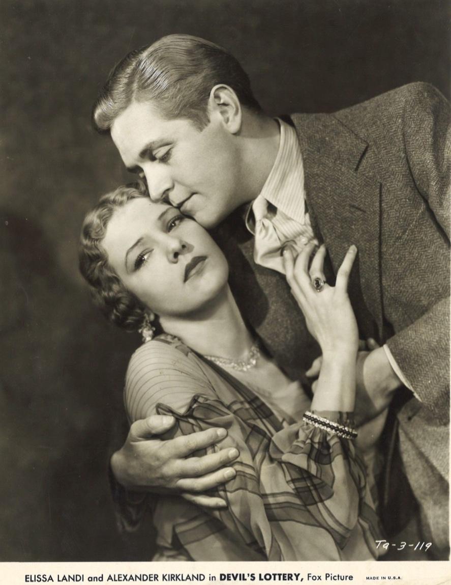 Alexander Kirkland and Elissa Landi in Devil's Lottery (1932)